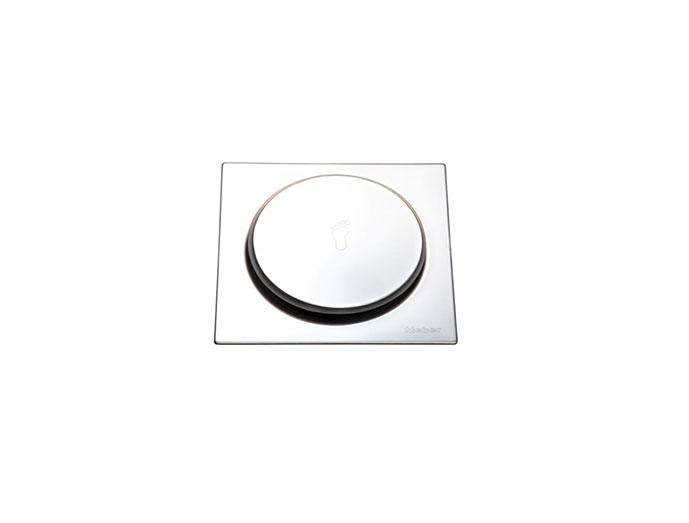 Grelha Inox Quadrada pressão 10x10cm